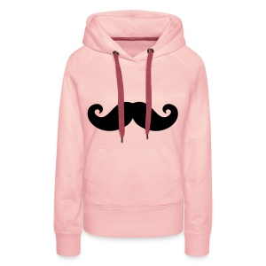 MOUSTACHE SWEATER - Vrouwen Premium hoodie