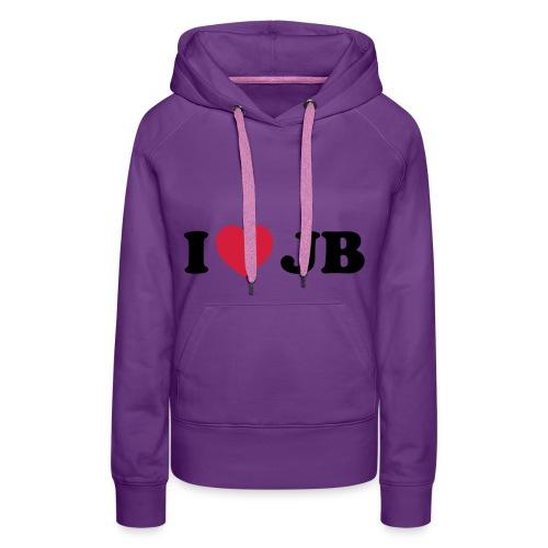 Vrouwensweater: I love  - Vrouwen Premium hoodie