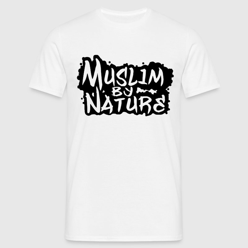muslim by nature logo - Men's T-Shirt