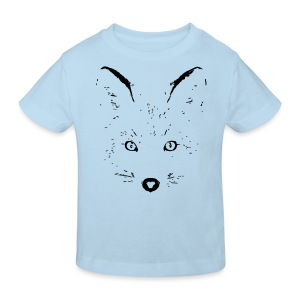 tier t-shirt fuchs fox fuchsig katze augen silhouette sketch - Kinder Bio-T-Shirt