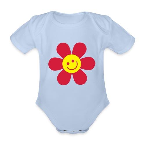 Kukka-body - Vauvan lyhythihainen luomu-body