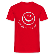 T-Shirts ~ Men's T-Shirt ~ Hands in the air Smiley Face (Reflective print)