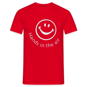 Hands in the air Smiley Face (Reflective print) - Men's T-Shirt