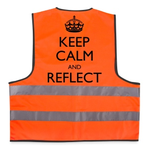 Unisex Keep Calm and Reflect Reflective Vest - Reflective Vest
