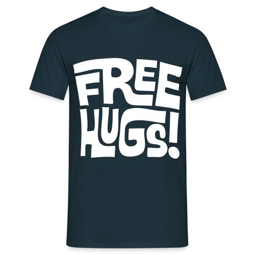 Free Hugs Tshirt Navy - Men's T-Shirt