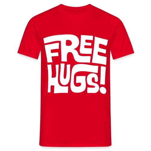 Free Hugs Tshirt Red - Men's T-Shirt
