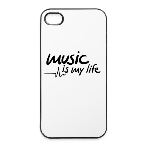 iPhone hoesje Music is my life - iPhone 4/4s hard case