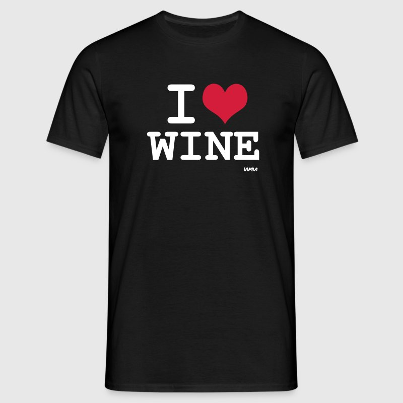 Noir I love wine by wam T-shirts - T-shirt Homme