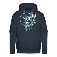 Hoodies & Sweatshirts ~ Men's Premium Hoodie ~ Wasted Smiley Face Glow in the Dark print