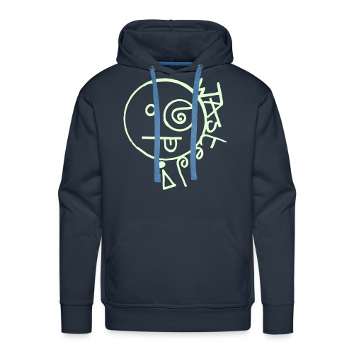 Wasted Smiley Face Glow in the Dark print - Men's Premium Hoodie