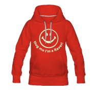 Hoodies & Sweatshirts ~ Women's Premium Hoodie ~ Hug me I'm a Raver! Smiley Face