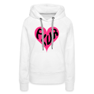 Hoodies & Sweatshirts ~ Women's Premium Hoodie ~ PLUR Raver Mantra in a Heart