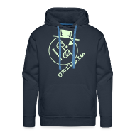 Hoodies & Sweatshirts ~ Men's Premium Hoodie ~ Smashed Smiley Face Glow in the Dark print