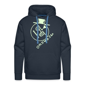 Smashed Smiley Face Glow in the Dark print - Men's Premium Hoodie