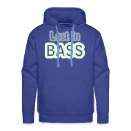 Hoodies & Sweatshirts ~ Men's Premium Hoodie ~ Lost in Bass. Glow in the dark print
