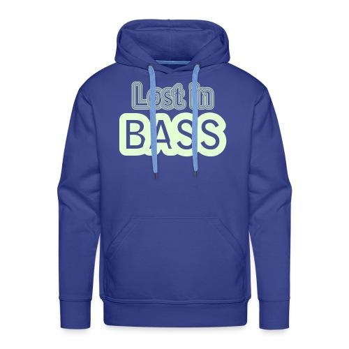 Lost in Bass. Glow in the dark print - Men's Premium Hoodie