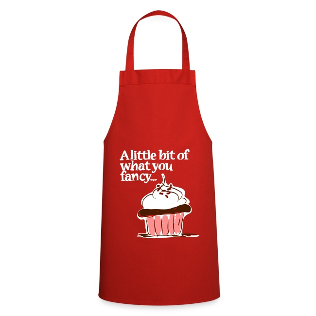 A little bit of what you fancy... Cupcake Apron (red)
