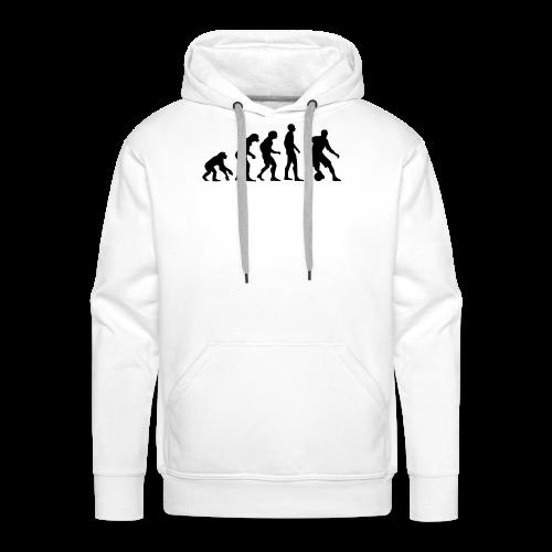 Kapuzenpullover Soccer-Evolution - freie Farbwahl - Männer Premium Hoodie