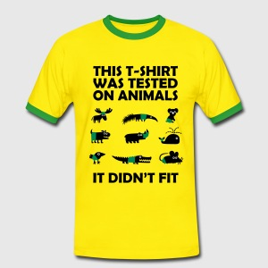 Tested on Animals - Didn't Fit T-shirts - Kontrast-T-shirt herr