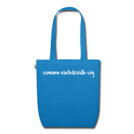 Bags & Backpacks ~ EarthPositive Tote Bag ~ Comann Eachdraidh Organic Bag - Peacock