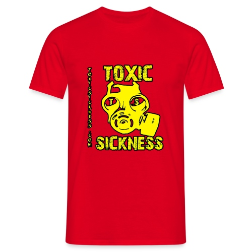 NEW Mens Yellow Toxic Logo Red T-Shirt - Men's T-Shirt