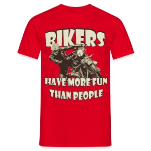 More fun than people biker t-shirt - Men's T-Shirt