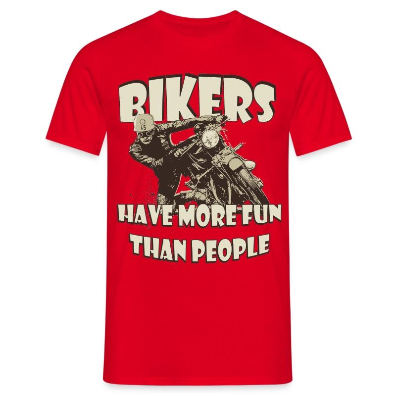 More fun than people biker t-shirt - Men's T-Shirt