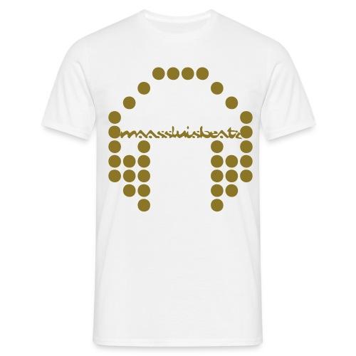 T-shirt (Klassiek) MaassluisBeatz Gouden Logo - Mannen T-shirt