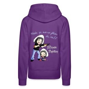 Mini-Kriss - Gateau de riz - Sweat Capuche femme - Sweat-shirt à capuche Premium pour femmes