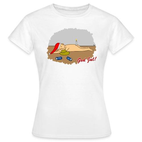 Trevlig jultröja - Nån öl för mycket - Figursydd t-shirt - T-shirt dam