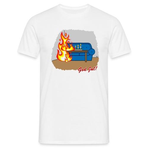 Trevlig jultröja - Glöm inte ljusen - Klassisk t-shirt - T-shirt herr