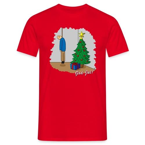 Trevlig jultröja - Ensam på julafton - Klassisk t-shirt - T-shirt herr