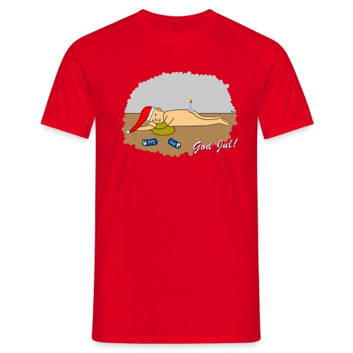 Trevlig jultröja - Nån öl för mycket - Klassisk t-shirt - T-shirt herr