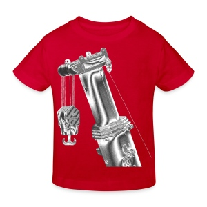 Mobile Crane 1200t Boom Top - Kids' Organic T-shirt