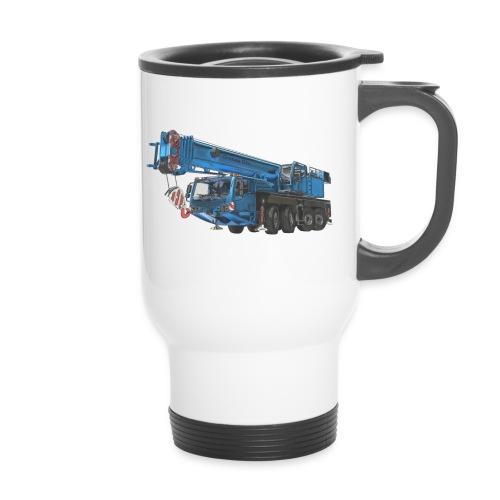 Mobile Crane 4-axle - Blue - Travel Mug