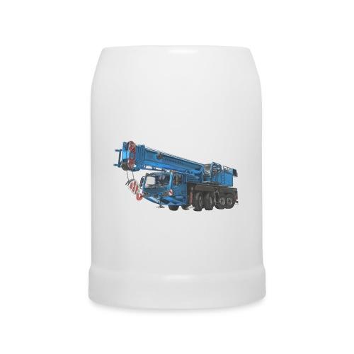 Mobile Crane 4-axle - Blue - Beer Mug