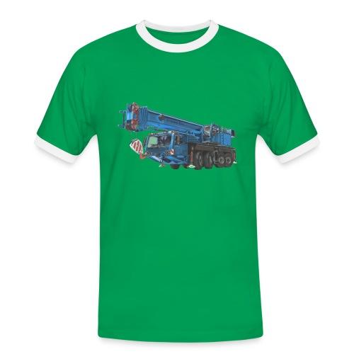 Mobile Crane 4-axle - Blue - Men's Ringer Shirt