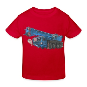 Mobile Crane 4-axle - Blue - Kids' Organic T-shirt