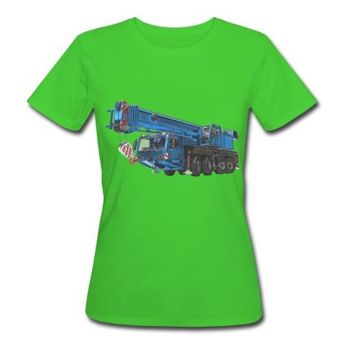 Mobile Crane 4-axle - Blue - Women's Organic T-Shirt