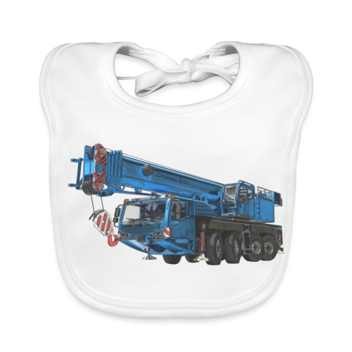 Mobile Crane 4-axle - Blue - Baby Organic Bib