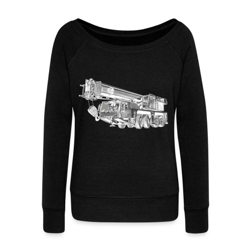 Mobile Crane 4-axle - Women's Boat Neck Long Sleeve Top