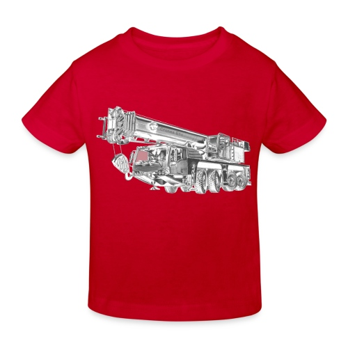 Mobile Crane 4-axle - Kids' Organic T-Shirt
