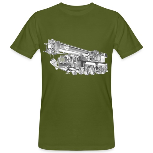 Mobile Crane 4-axle - Men's Organic T-Shirt