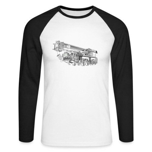 Mobile Crane 4-axle - Men's Long Sleeve Baseball T-Shirt