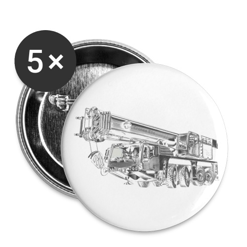Mobile Crane 4-axle - Buttons small 1''/25 mm (5-pack)