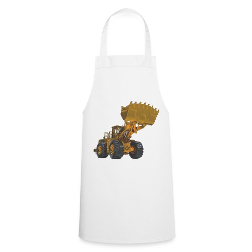 Old Mining Wheel Loader - Yellow - Cooking Apron