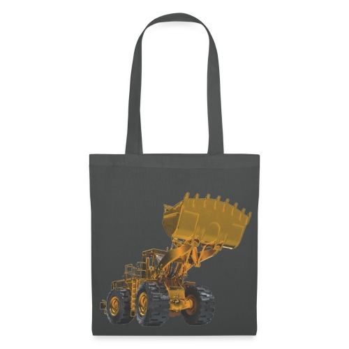Old Mining Wheel Loader - Yellow - Tote Bag