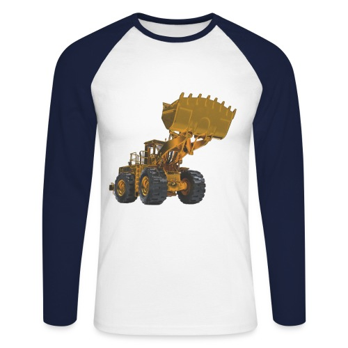 Old Mining Wheel Loader - Yellow - Men's Long Sleeve Baseball T-Shirt