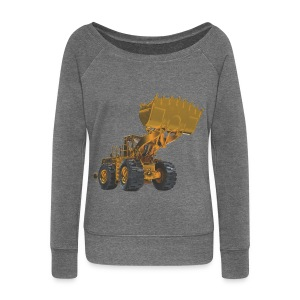 Old Mining Wheel Loader - Yellow - Women's Boat Neck Long Sleeve Top