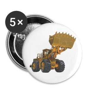 Old Mining Wheel Loader - Yellow - Buttons large 56 mm